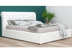Pat dormitor 2 persoane Melody Fix Pure White