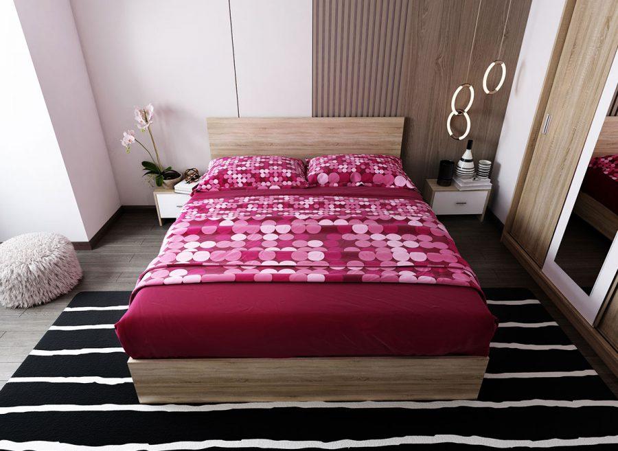 Pat Dormitor Netapitat Sonoma 3 marimi