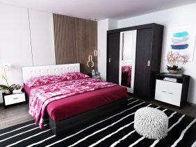 Oferta Set Dormitor Bingo F Tapitat Alb