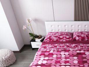 Pat Dormitor Tapitat Alb Ferrara