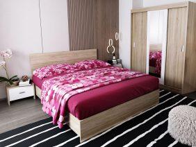Oferta Set Dormitor Bingo Netapitat - 4 piese