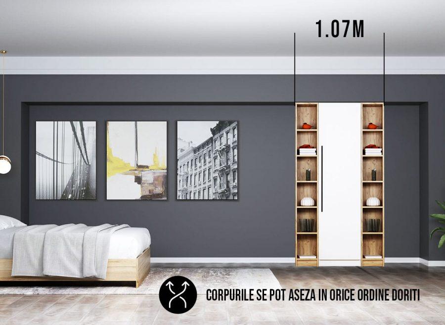 Dressing 1.07m / Dulap Dormitor Timea - Transport Gratuit