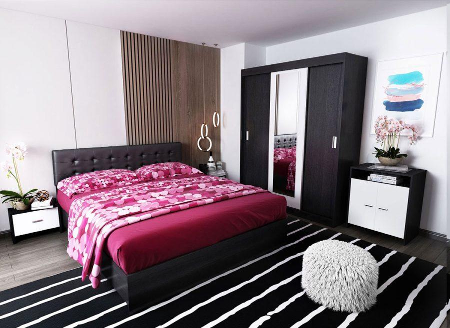 Oferta Set Dormitor Bingo F Tapitat Negru