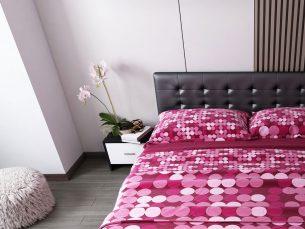 Pat Dormitor Tapitat Negru Ferrara
