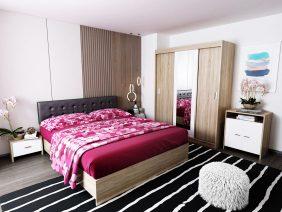 Oferta Set Dormitor Bingo Tapitat Negru