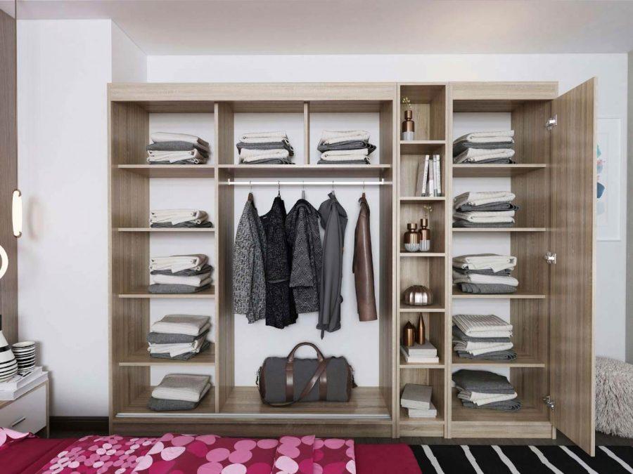 dressing mobila dormitor spatios cu oglina si usi culisante
