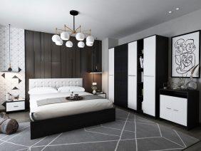 Oferta Dormitor Mario 6 piese 4U Tapitat Alb