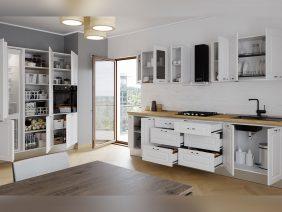Set Bucatarie Cucina pe doi pereti - Alb Ultramat