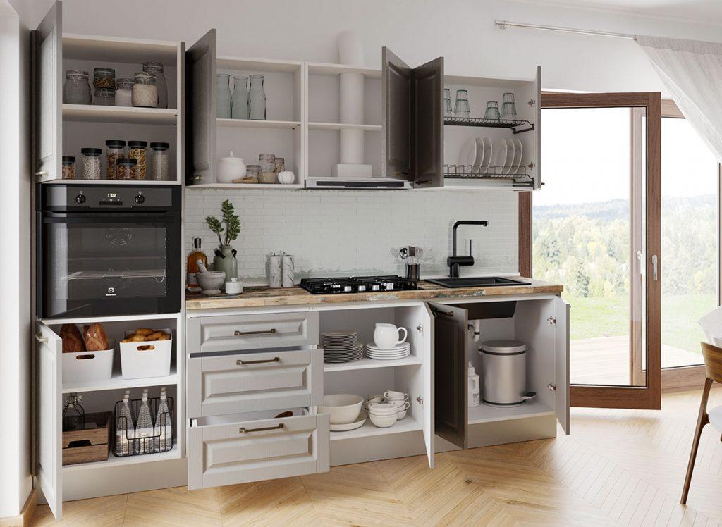 Set Bucatarie Cucina - Gri Structo - 2.65 metri