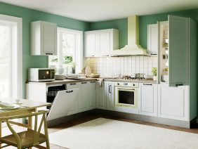 Set Bucatarie Cucina pe colt - Alb Ultramat
