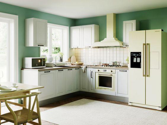 Set Bucatarie Cucina pe colt II - Alb Ultramat