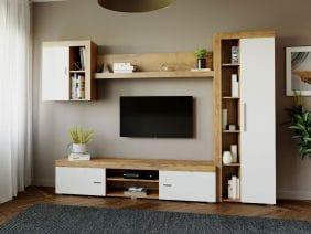Mobila sufragerie - Living Milan C1 Stejar