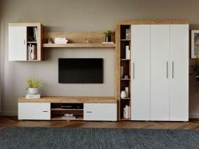 Mobila sufragerie - Living Milan C1 UNO Stejar