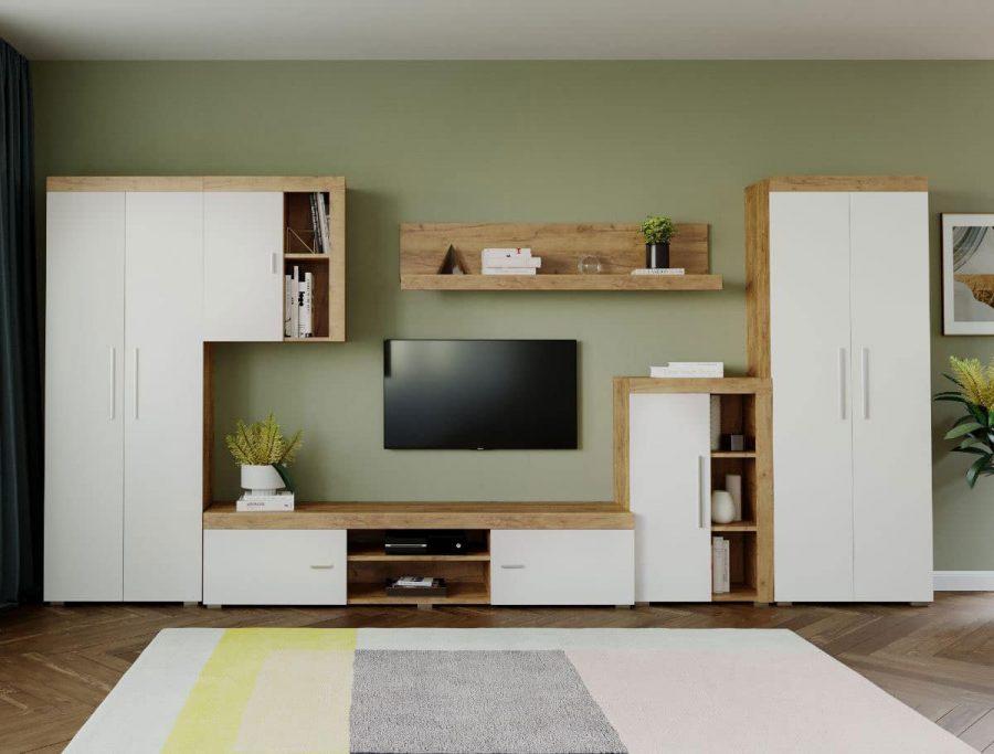 Mobila sufragerie - Living Milan C2 DUO Stejar