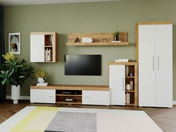 Mobila sufragerie - Living Milan C2 UNO Stejar