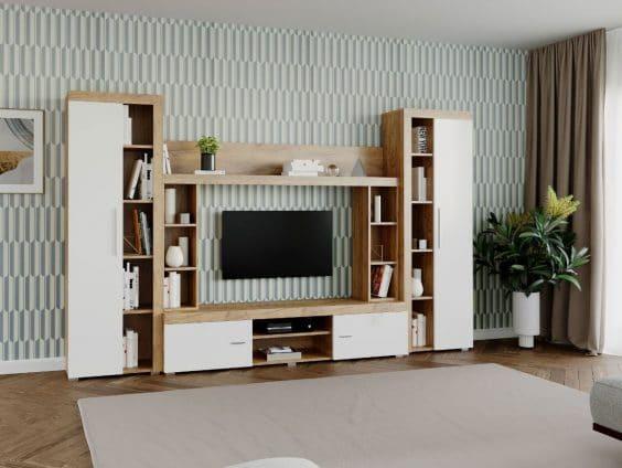 Mobila sufragerie - Living Milan C3 Stejar