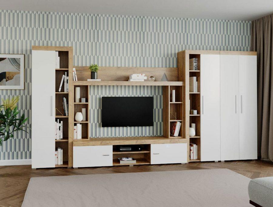 Mobila sufragerie – Living Milan C3 UNO Stejar