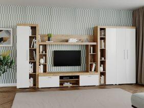 Mobila sufragerie - Living Milan C3 UNO Stejar