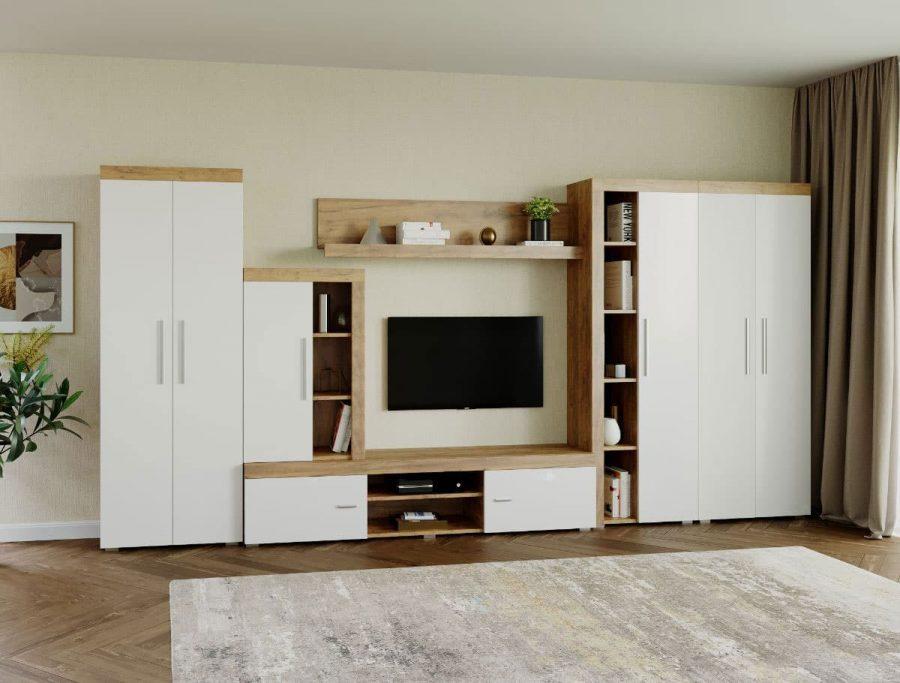 Mobila sufragerie – Living Milan C4 DUO Stejar