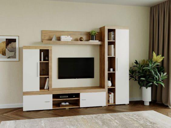 Mobila sufragerie - Living Milan C4 Stejar