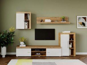Mobila sufragerie - Living Milan C2 Stejar