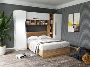 Set Dormitor Timea 2.84m cu pat incadrat