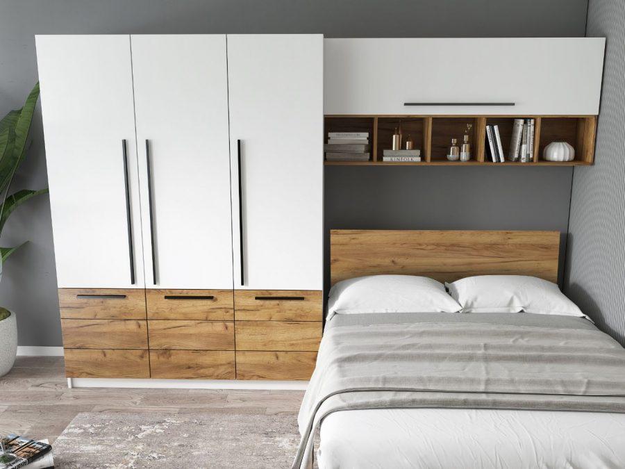 Set Dormitor Timea 3.05m cu pat incadrat