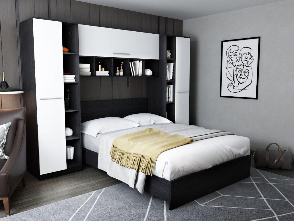 Set Dormitor Mario 2.87m cu pat incadrat