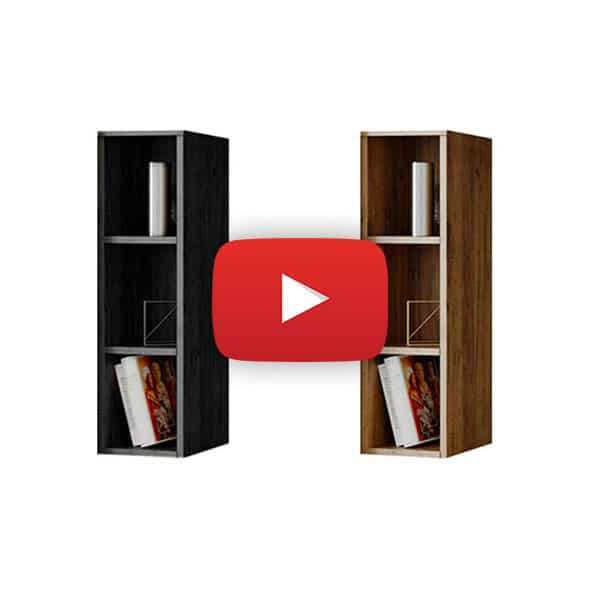video de montaj Milan Modul D – Dulap Raft Stejar