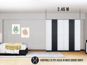 Dressing 2.46m / Dulap Dormitor Mario