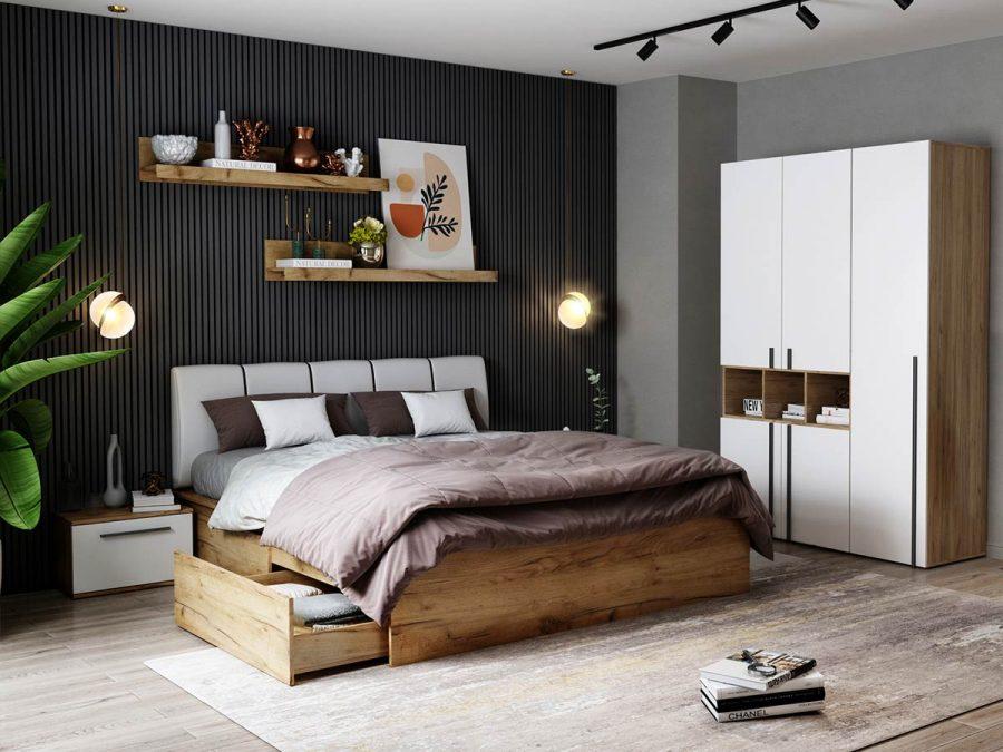Set Dormitor Fox 03 - Pat Tapitat