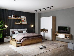 Set Dormitor Fox 04 - Pat Tapitat