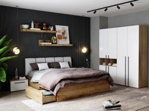 Set Dormitor Fox 05 - Pat Tapitat