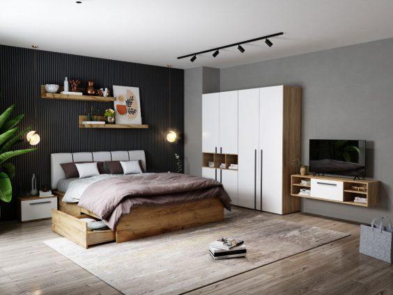 Set Dormitor Fox 06 - Pat Tapitat