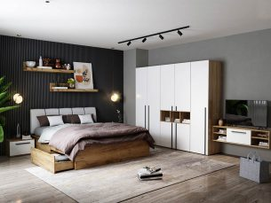 Set Dormitor Fox 08 - Pat Tapitat