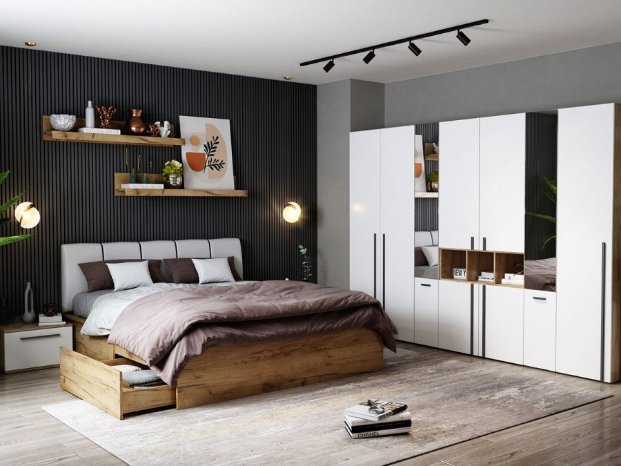 Set Dormitor Fox 19 - Pat Tapitat