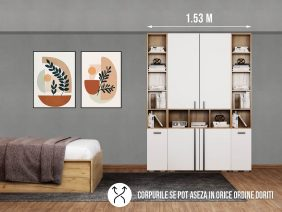 Dressing 1.53m / Dulap Dormitor Fox