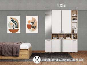 Dressing 1.53m / Dulap Dormitor Fox cu oglinda