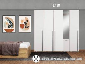 Dressing 2.15m / Dulap Dormitor Fox cu oglinda