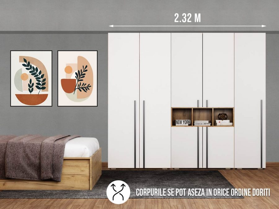 Dressing 2.32m / Dulap Dormitor Fox