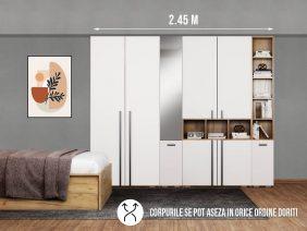 Dressing 2.45m / Dulap Dormitor Fox cu oglinda