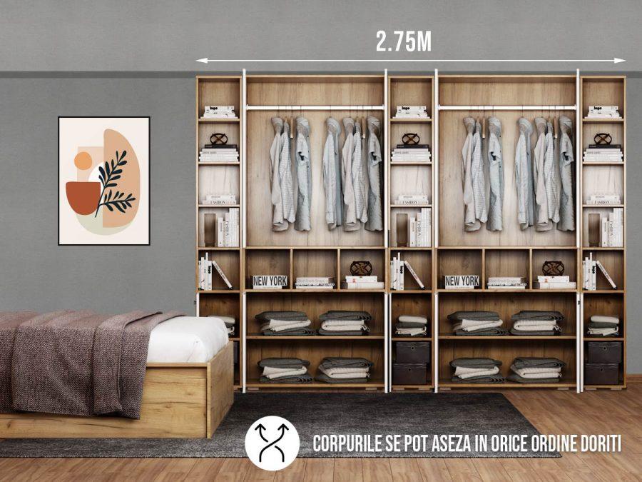 Dressing 2.75m / Dulap Dormitor Fox