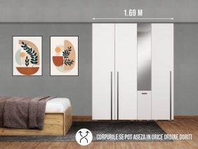 Dressing 1.69m / Dulap Dormitor Fox cu oglinda