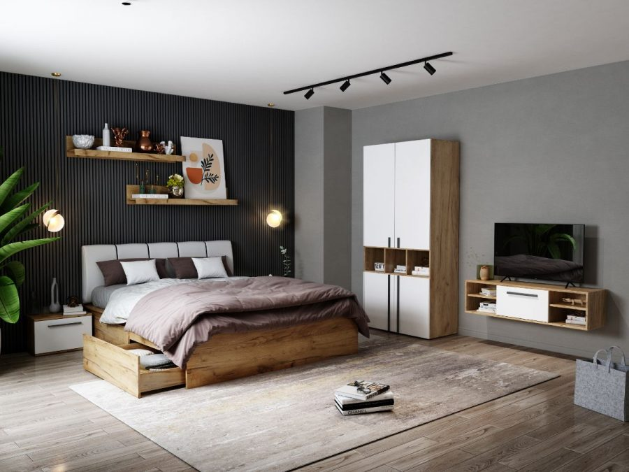 Set Dormitor Fox 02 - Pat Tapitat