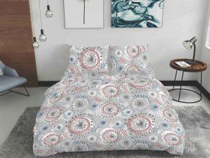 Lenjerie de pat multicolora - cearsaf pilota, cearsaf pat, 2 fete perna