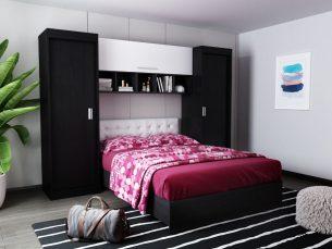 Set Dormitor Bingo 2.43m cu pat incadrat