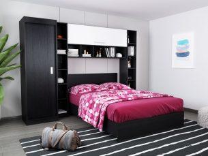 Set Dormitor Bingo 2.55m cu pat incadrat