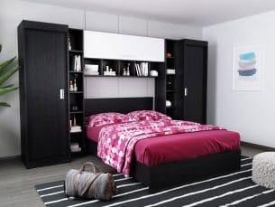 Set Dormitor Bingo 2.99m cu pat incadrat