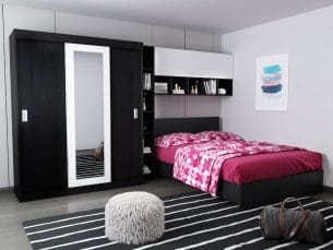 Set Dormitor Bingo 3.35m cu pat incadrat