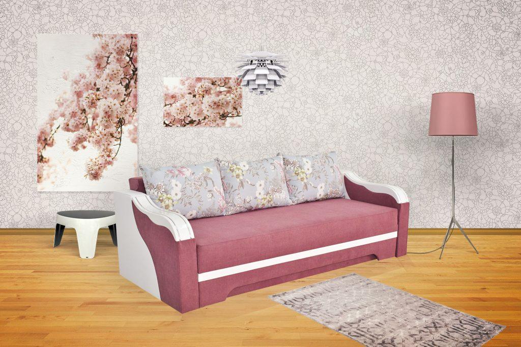 Canapea Bianca cu ornament alb